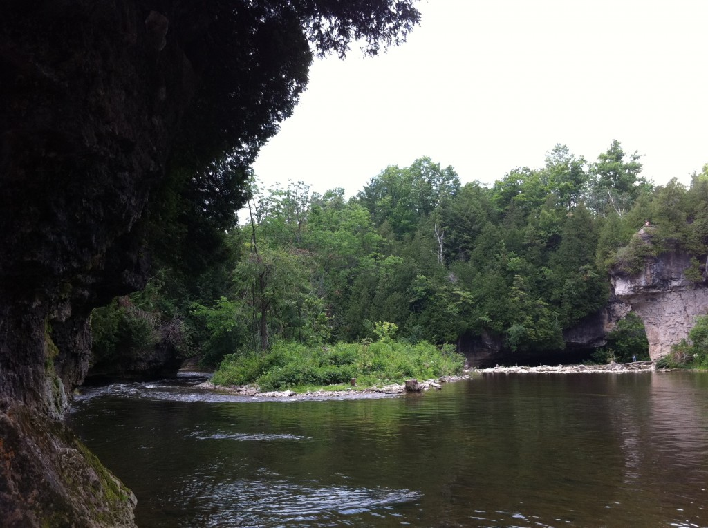 The Elora Gorge. My own photo, July 2014.