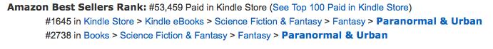 Best Amazon rank so far