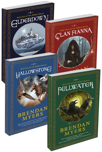 The four titles of The Hidden Houses main series.