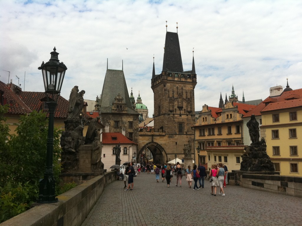 The Charles Bridge, Prague. An icon of urban high civilization. My own photo, July 2015.